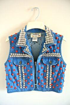 KillaBot Custom Denim Vest Women's Small by by MoonShineApparel