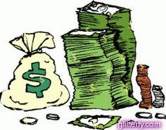pilhas de dinheiro
