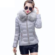 Fashion Women Winter Faux Fur Collar Hooded Coat Warm Short Parka Jacket Outwear | eBay