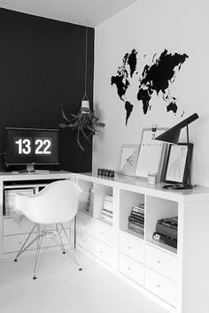 Trendy Home Office Inspiration Wall 34 Ideas Home Office Space, Office Workspace, Home Office Design, Home Office Decor, House Design, Home Decor, Office Ideas, Office Designs, Office Inspo