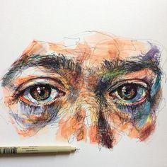 Malerische Kunstwerke von Noel Badget Pugh – A Level Art Sketchbook - Water Art Inspo, Inspiration Art, Art And Illustration, Portfolio D'art, L'art Du Portrait, Gcse Art Sketchbook, Scribble Art, A Level Art, Wow Art