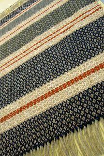 Toronto Weaving School: Bird's Eye rug, more scarf designs and workshops