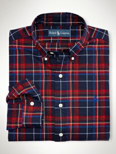 Classic-Fit Plaid Shirt - Polo Ralph Lauren Classic-Fit - RalphLauren.com