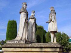 Colon y los Reyes en el Alcazar de los Reyes Catolicos en Cordoba