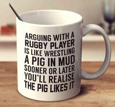 Arguing With A Rugby Player