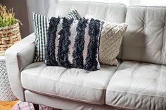 Textured woven pillow tutorial