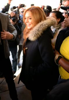 Celeb Diary: Lindsay Lohan attending her first Sundance Film Festival Sundance Film Festival, Lindsay Lohan, Celebs, Celebrities, Digital Marketing, Cloud, Fur Coat, Fashion, Moda