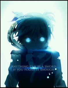 Anything can be a sword if you polish it enough, text, quote, Shiota Nagisa, snake; Assassination Classroom
