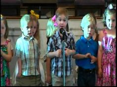 Kid recites Bible - Then busts out George Strait during Pre-School Graduation! This is pricless!