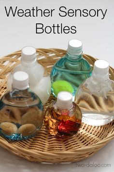 Weather Sensory Bottles for Circle Time - Twodaloo
