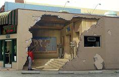 Trompe l'oeil murals by John Pugh