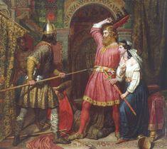 L'assassinio di Alboino, re dei Longobardidi Charles Landseer (1856)