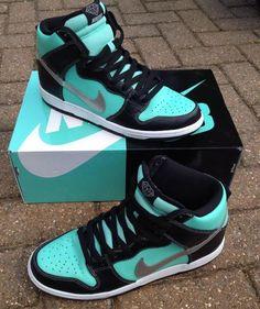 big sale 8d1b1 43751 Nike SB Dunk Tiffany High These are soooooo dope!