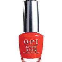 OPI - Breakfast at Tiffany's Infinite Shine 2 Collection in Can't Tame a Wild Thing (daring red) #ultabeauty