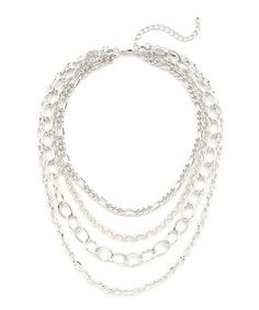 Another great find on #zulily! Silver Tiered Chain Bib Necklace by Lolita #zulilyfinds 50% OFF UNITL JULY 9TH