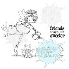 Sweet Tooth - Friends Make Life Sweeter | Digital Stamps | Tiddly Inks