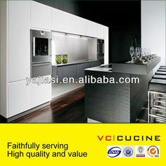 Modern white lacquer pantry kitchen