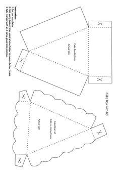 wedding-DIY-cake-gift-box-template.jpg 592×868 pixels