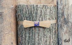 Slim Wooden Bow Tie