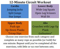 A Better Life with Burgers: 12-Minute Circuit Workout