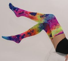 Splash Color Thigh Highs in color #7411 by www.welovecolors.com