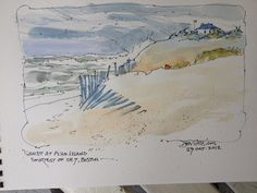 DON GETZ 'WATERCOLOR JOURNAL TOUR' OF THE USA: Sandy's a Comin'