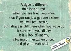 Fatigued vs tired
