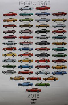 Ford World HQ / celebrating 50th Anniversary of the Mustang / the give away poster