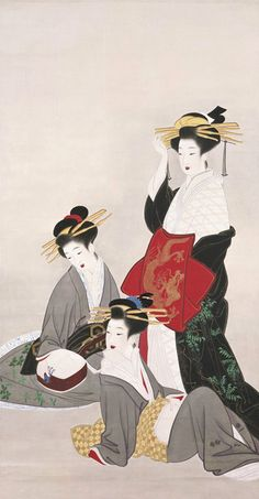 Yamaguchi Soken (1759–1818) 山口素絢   Women from Red Light District, after 1800