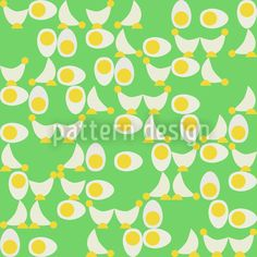 Chicken Or Egg Repeat Pattern Coloring Easter Eggs, Repeating Patterns, Vector Pattern, Vector File, Abstract Pattern, Chicken, Design, Cubs