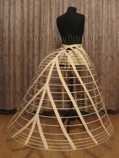 Cage Crinoline came along with the revival of the hoop skirt. They were made out…