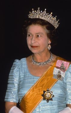 The tiara is set with brilliant- and rose-cut diamonds and was made by royal jewelers Garrard. The style is Russian and was very popular with the royal family Hm The Queen, Her Majesty The Queen, Queen Mary, Royal Crown Jewels, Royal Jewelry, Jewellery, Royal Diamond, Rose Cut Diamond, Elizabeth Philip