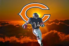 Gone but not forgotten Walter Payton Bears Football, Nfl Chicago Bears, Football Baby, Walter Payton, Cubs, Captain America, Superhero, Man Cave, Sports Teams