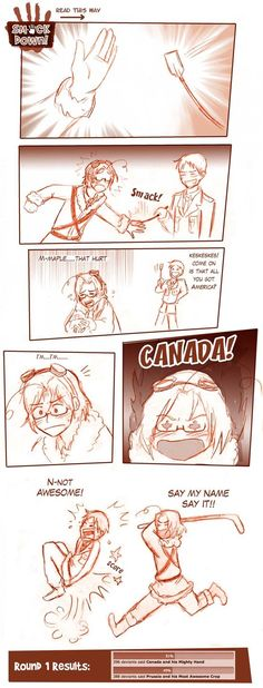 After the Smackdown Round here Prussia thought he would try to get a little revenge on Canada.....he failed Awesome Crop Series -1-[link] -2-[link]