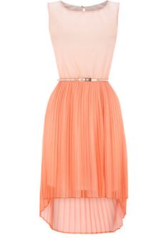 ombre pleat dress _ @Koral Myrex thoughts???