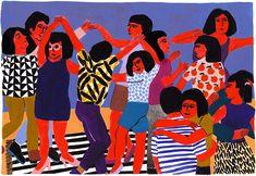Joyful crowd scenes and vivid still lives, as painted by illustrator Léa Maupetit.