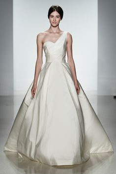 """Dress by Amsale, Style """"Newport"""".  Visit www.vermontjewel.com for fabulous bridal jewelry or at Renaissance Fine Jewelry in Brattleboro, Vermont."""
