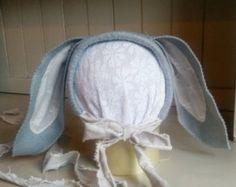 TattyRose Ruffled Bonnet Newborn photo prop by MinnieandMorgan