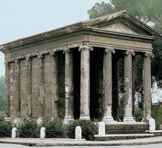 """Temple of Portunus (Temple of """"Fortuna Virilis"""") Rome, Italy, ca. 75 BCE"""