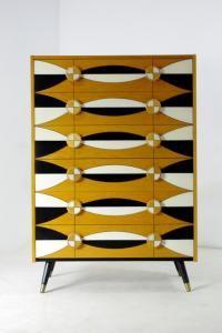 Skandynawska komoda, lata 70-te, vintage design.
