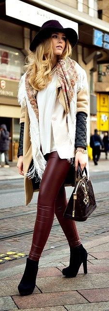 <3 na...burgundy leather...here any day..
