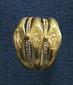 Roman gold ring 1st century A.D.  Imagine the hand that wore this ring