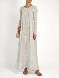 Vaudeville embroidered cotton-gauze maxi dress | Mes Demoiselles