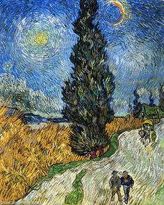 Road with Cypress and Star, May, 1890 by Vincent van Gogh on Curiator, the world's biggest collaborative art collection. Vincent Van Gogh, Art Van, Van Gogh Paintings, Paintings I Love, Van Gogh Arte, Van Gogh Pinturas, 7 Arts, Inspiration Art, Famous Artwork