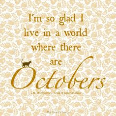 My Heart's Song: Happy October 1st
