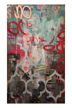 """Amore"" - Jill Ricci mixed media painting"