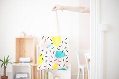 Feutres textiles sur tote bag