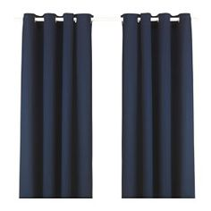 """IKEA - MERETE, Curtains, 1 pair, 57x98 """", , The thick curtains darken the room and provide privacy by preventing people outside from seeing into the room.The eyelet heading allows you to hang the curtains directly on a curtain rod.Effective at keeping out both drafts in the winter and heat in the summer."""