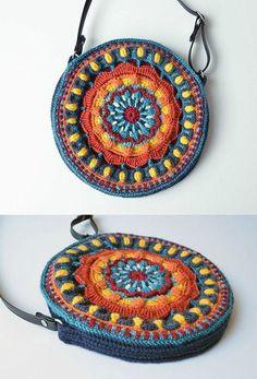 Circles of the Sun Mystery CAL 2015 - overlay crochet - Block 5 crochet pattern by LillaBjornCrochet Crochet Mandala Pattern, Crochet Flower Patterns, Crochet Designs, Crochet Flowers, Love Crochet, Diy Crochet, Crochet Crafts, Crochet Projects, Crochet Handbags