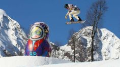 White during slopestyle practice at the Extreme Park at Rosa Khutor Mountain.  (Cameron Spencer-Getty Images Europe)